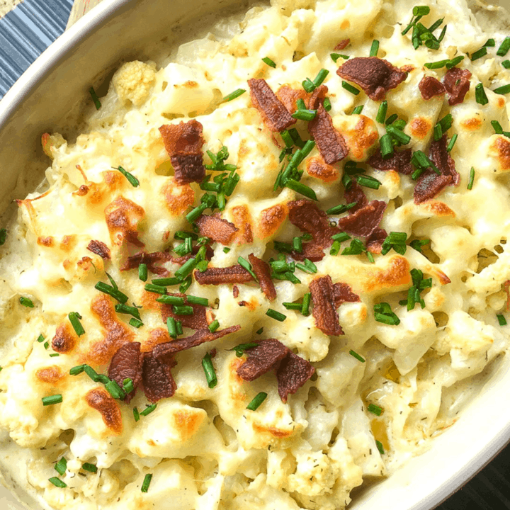 Loaded Cauliflower Au Gratin