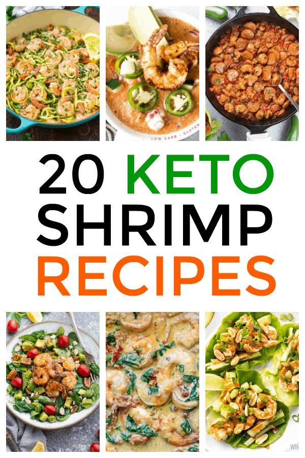 photo collage of keto shrimp recipes